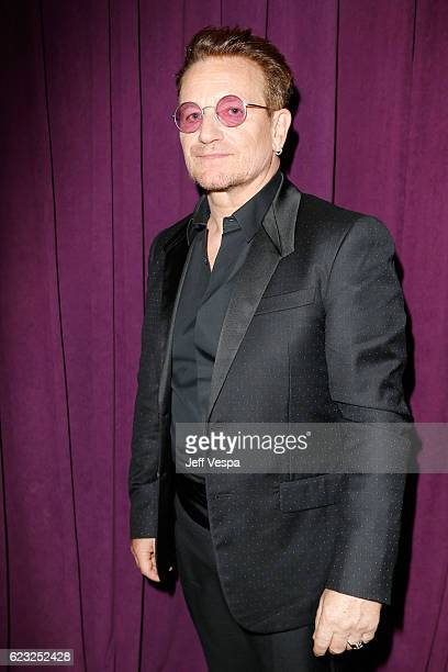Honoree Bono poses in the green room at Glamour Women Of The Year 2016 at NeueHouse Hollywood on November 14 2016 in Los Angeles California