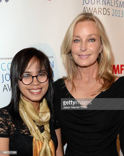 Honoree Bopha Phorn and actress Bo Derek attend the International Women's Media Foundation's 2013 Courage in Journalism Awards at the Beverly Hills...