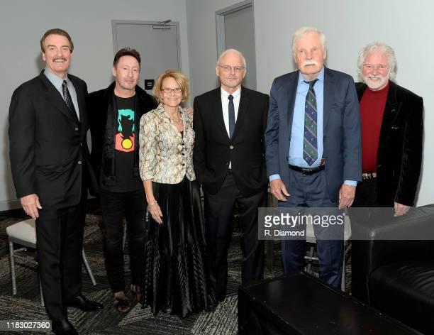 Honoree Brad Bardlett Julian Lennon Captain Planets Barbara Pyle Honoree Richard Louv Ted Turner and Honoree Chuck Leavell attend 2019 Captain Planet...