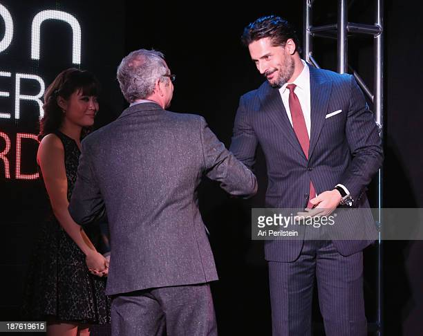 Honoree Brad Einhorn and actor Joe Manganiello speak onstage during Hamilton and Los Angeles Confidential Magazine's announcement of the 7th Annual...