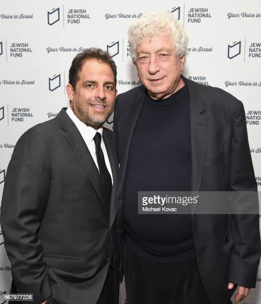 Honoree Brett Ratner and Avi Lerner attend the Jewish National Fund Los Angeles Tree Of Life Dinner at Loews Hollywood Hotel on October 29, 2017 in...