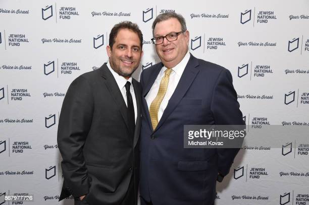 Honoree Brett Ratner and Marty Singer attend the Jewish National Fund Los Angeles Tree Of Life Dinner at Loews Hollywood Hotel on October 29 2017 in...