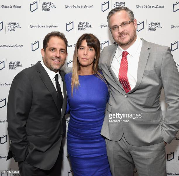 Honoree Brett Ratner Patty Jenkins and Sam Sheridan attend the Jewish National Fund Los Angeles Tree Of Life Dinner at Loews Hollywood Hotel on...