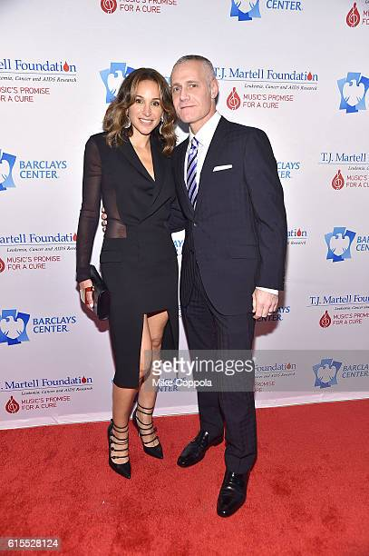Honoree Brett Yormark and Elaina Scotto attend TJ Martell Foundation's 41st Annual Honors Gala at Gustavino's on October 18 2016 in New York City