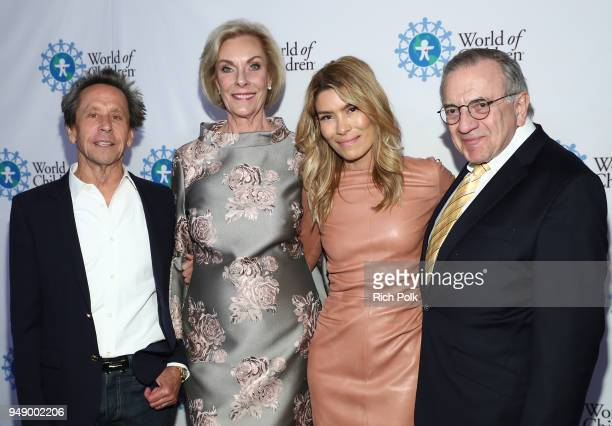 Honoree Brian Grazer World of Children CoFounder Kay Isaacsonleibowitz Honoree Veronica Grazer and World of Children CoFounder Harry Leibowitz attend...