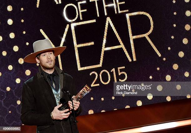 Honoree Brian Kelley of Little Big Town accepts an award onstage during the 2015 CMT Artists of the Year at Schermerhorn Symphony Center on December...