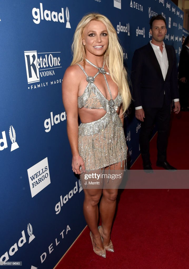 Honoree Britney Spears attends the 29th Annual GLAAD Media Awards at The Beverly Hilton Hotel on April 12, 2018 in Beverly Hills, California.