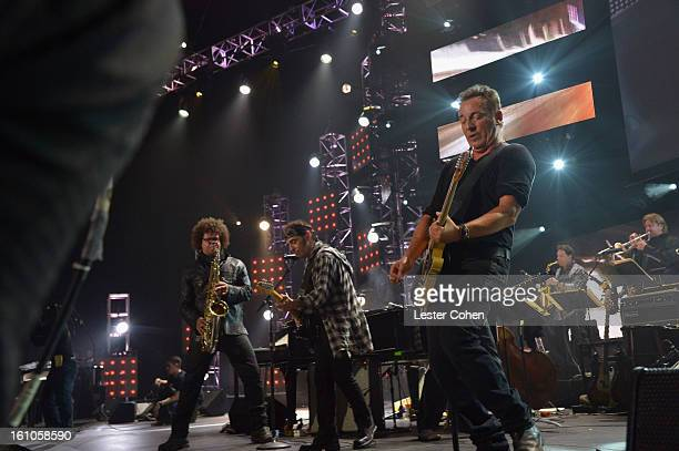 Honoree Bruce Springsteen and the E Street Band perform onstage at MusiCares Person Of The Year Honoring Bruce Springsteen at Los Angeles Convention...