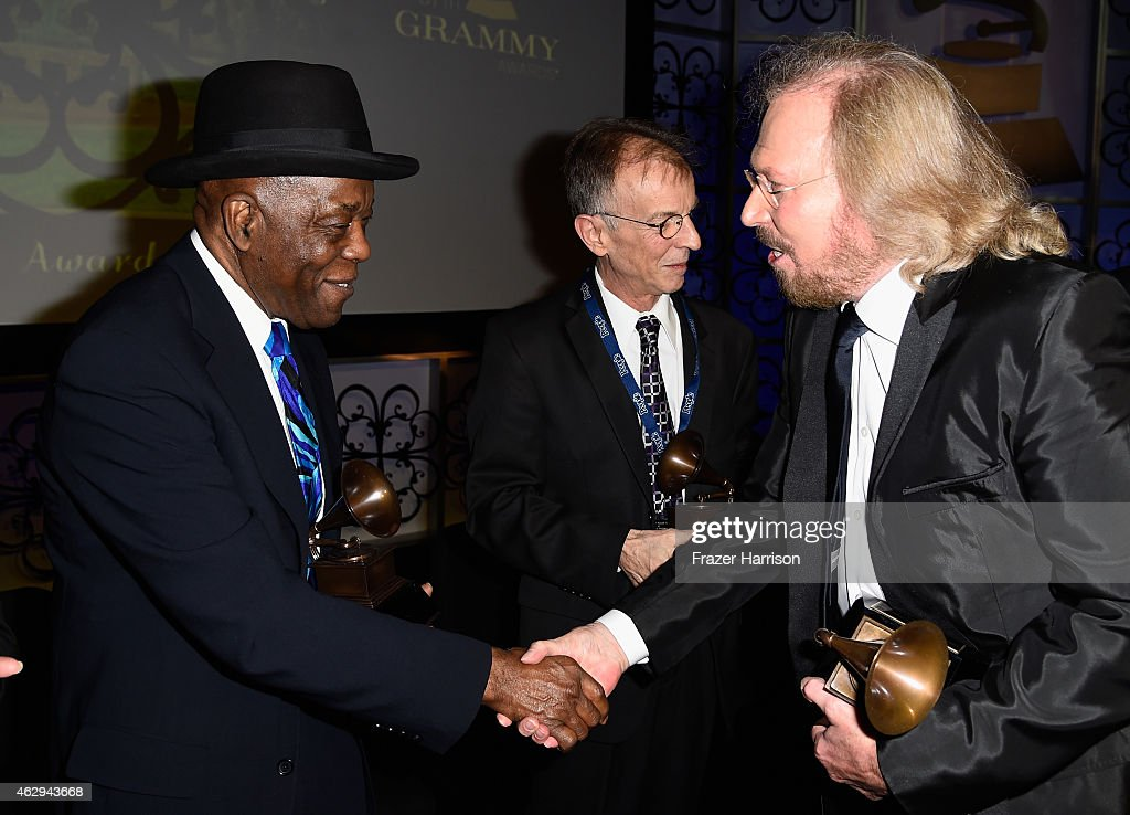 Honoree Buddy Guy, recording artist Charlie 'Sonny' Louvin Jr., and honoree Barry Gibb attend The 57th Annual GRAMMY Awards - Special Merit Awards Ceremony on February 7, 2015 in Los Angeles, California.