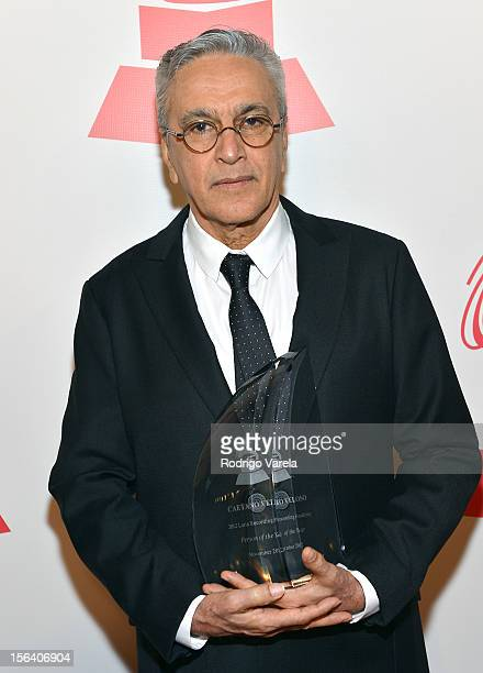 Honoree Caetano Veloso arrives at the 2012 Person of the Year honoring Caetano Veloso at the MGM Grand Garden Arena on November 14 2012 in Las Vegas...