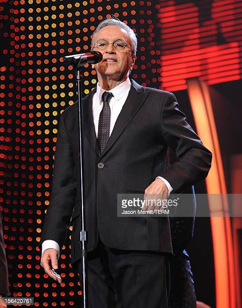 Honoree Caetano Veloso onstage during the 2012 Latin Recording Academy Person Of The Year honoring Caetano Veloso at the MGM Grand Garden Arena on...