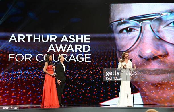 Honoree Caitlyn Jenner accepts the Arthur Ashe Courage Award during The 2015 ESPYS at Microsoft Theater on July 15 2015 in Los Angeles California