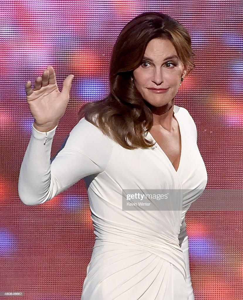 Honoree Caitlyn Jenner accepts the Arthur Ashe Courage Award onstage during The 2015 ESPYS at Microsoft Theater on July 15, 2015 in Los Angeles, California.