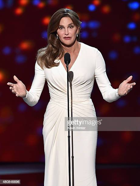 Honoree Caitlyn Jenner accepts the Arthur Ashe Courage Award onstage during The 2015 ESPYS at Microsoft Theater on July 15 2015 in Los Angeles...