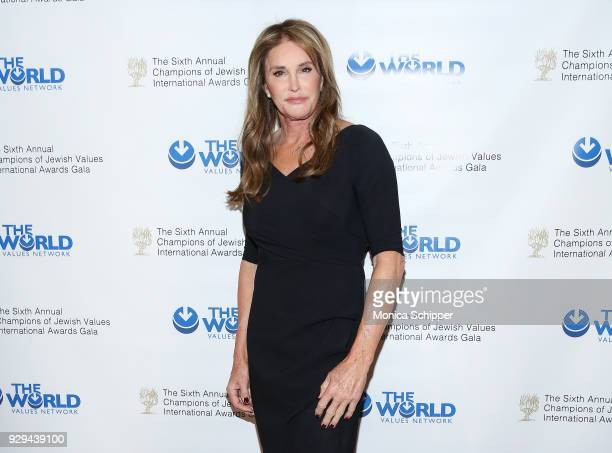 Honoree Caitlyn Jenner attends the 2018 World Values Network Champions of Jewish Values Awards Gala at The Plaza Hotel on March 8 2018 in New York...