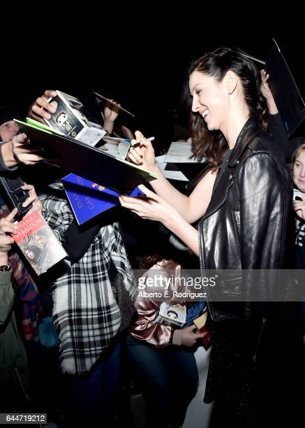Honoree Caitriona Balfe attends the 12th Annual USIreland Aliiance's Oscar Wilde Awards event at Bad Robot on February 23 2017 in Santa Monica...