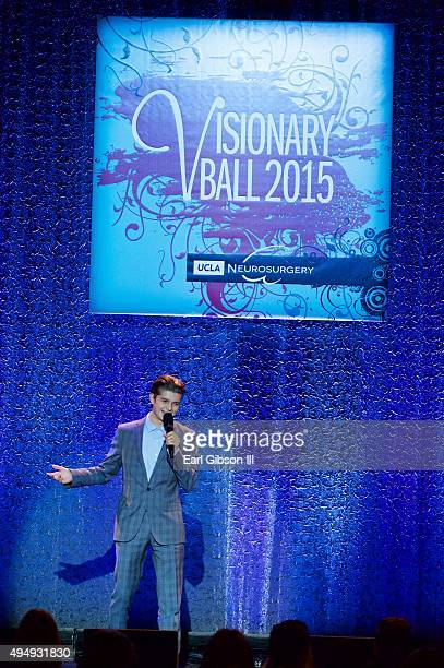 Honoree Cameron Burnett speaks at the 2015 UCLA Neurosurgery Visionary Ball at the Beverly Wilshire Four Seasons Hotel on October 29 2015 in Beverly...
