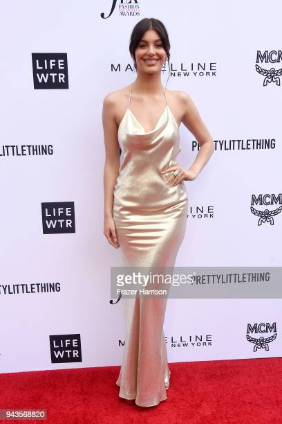 Honoree Cami Morrone attends The Daily Front Row's 4th Annual Fashion Los Angeles Awards at Beverly Hills Hotel on April 8 2018 in Beverly Hills...