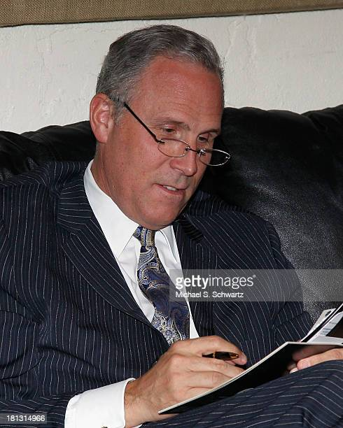 Honoree Cancer Treatment Centers of America President and CEO Dr Edgar D Starren reviews his notes backstage at The El Portal Theatre on September 19...