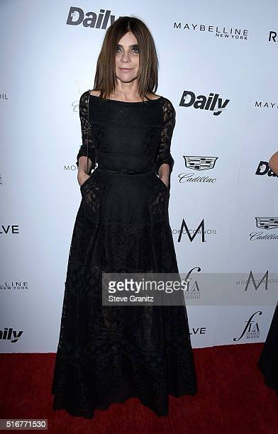 Honoree Carine Roitfeld attends the Daily Front Row 'Fashion Los Angeles Awards' at Sunset Tower Hotel on March 20 2016 in West Hollywood California