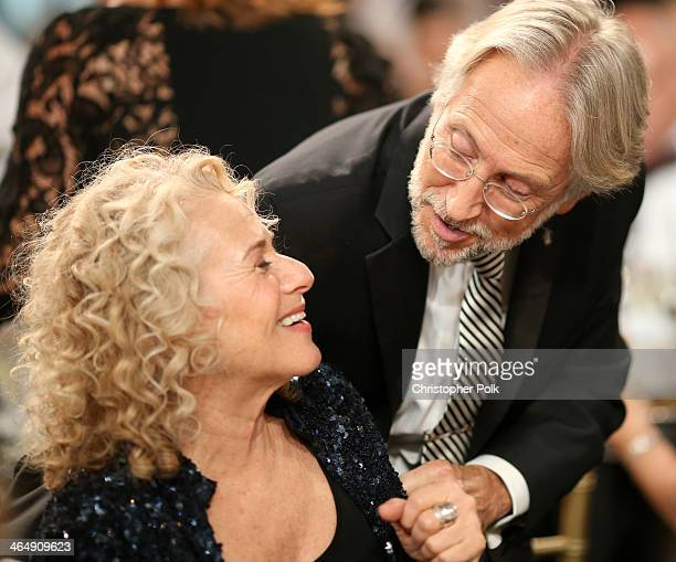 Honoree Carole King and CEO/President of the National Academy of Recording Arts Sciences Neil Portnow attend 2014 MusiCares Person Of The Year...