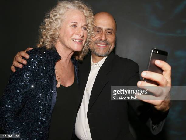 Honoree Carole King and guest attend 2014 MusiCares Person Of The Year Honoring Carole King at Los Angeles Convention Center on January 24 2014 in...