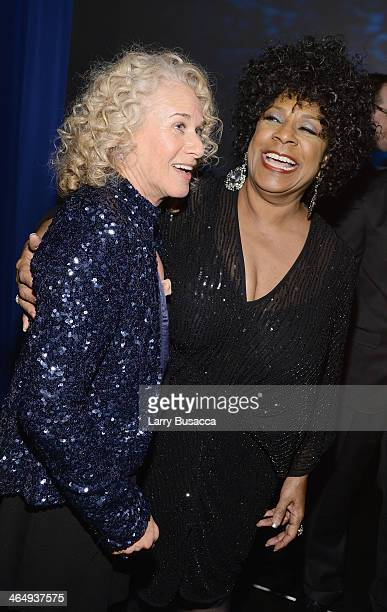 Honoree Carole King and recording artist Merry Clayton attend 2014 MusiCares Person Of The Year Honoring Carole King at Los Angeles Convention Center...