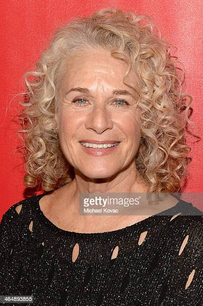 Honoree Carole King attends 2014 MusiCares Person Of The Year Honoring Carole King at Los Angeles Convention Center on January 24 2014 in Los Angeles...