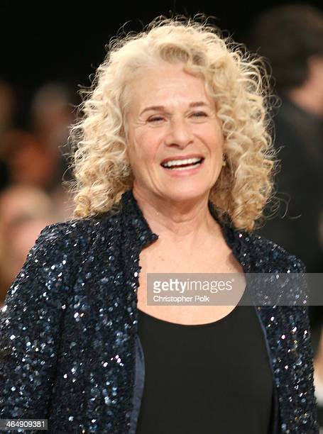 Honoree Carole King onstage at 2014 MusiCares Person Of The Year Honoring Carole King at Los Angeles Convention Center on January 24 2014 in Los...