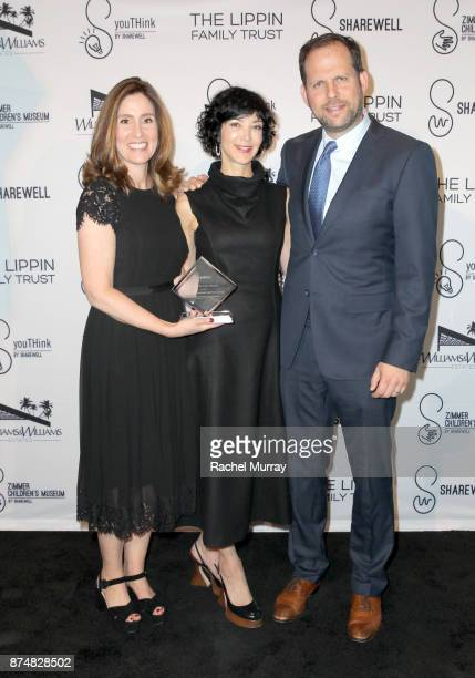 Honoree Carolyn Bernstein the Executive VP Head of Global Scripted Development and Production National Geographic Event Chair Sheryl Wachtel and...