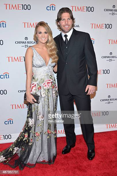 Honoree Carrie Underwood and husband Mike Fisher attend the TIME 100 Gala TIME's 100 most influential people in the world at Jazz at Lincoln Center...
