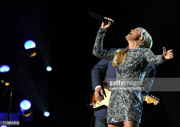 Honoree Carrie Underwood performs onstage during ACM Presents Girls' Night Out Superstar Women of Country concert held at the MGM Grand Garden Arena...