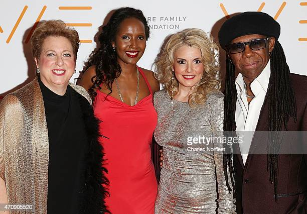 Honoree Caryl MStern singer/activist Nasra Corbel We Are Family Foundation President Nancy Hunt and Founder Nile Rodgers attend the 2015 We Are...