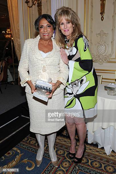 Honoree Cathy Hughes and CEO of the TJ Martell Foundation Laura Heatherly attend the TJ Martell Foundation's Women of Influence Awards on May 1 2014...