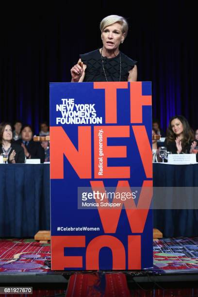 Honoree Cecile Richards speaks onstage during the 30th Anniversary Celebrating Women Breakfast at Marriott Marquis Hotel on May 11 2017 in New York...