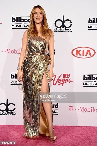 Honoree Celine Dion poses in the press room during the 2016 Billboard Music Awards at TMobile Arena on May 22 2016 in Las Vegas Nevada