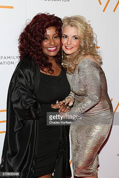 Honoree Chaka Khan and We Are Family Foundation President Nancy Hunt attend the 2015 We Are Family Foundation Celebration Gala at Hammerstein...