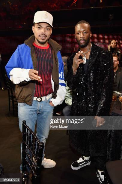 Honoree Chance The Rapper and GoldLink attend the 2018 iHeartRadio Music Awards which broadcasted live on TBS TNT and truTV at The Forum on March 11...