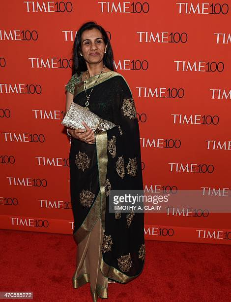 Honoree Chanda Kochhar attends the Time 100 Gala celebrating the Time 100 issue of the Most Influential People at The World at Jazz at Lincoln Center...