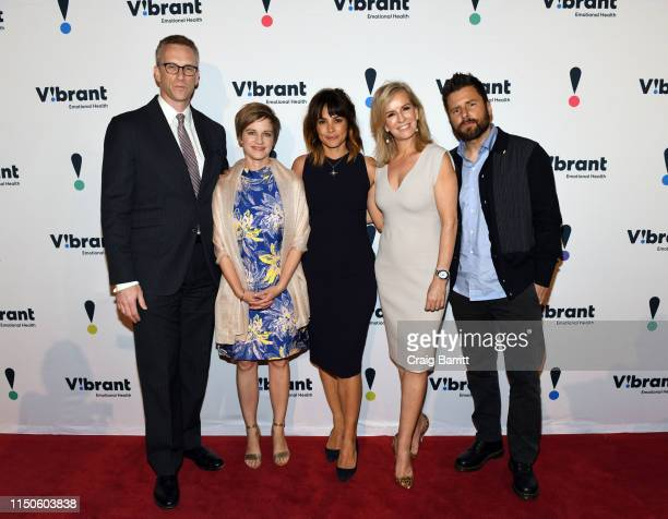 Honoree Charles P Fitzgerald Vibrant President and CEO Kimberly Williams Actress Stephanie Szostak Dr Jennifer Ashton and actor James Roday attend...