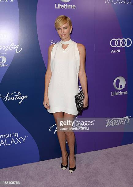 Honoree Charlize Theron arrives at Variety's 5th Annual Power of Women event presented by Lifetime at the Beverly Wilshire Four Seasons Hotel on...