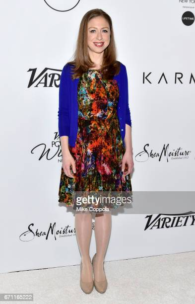 Honoree Chelsea Clinton attends Variety's Power Of Women New York at Cipriani Midtown on April 21 2017 in New York City
