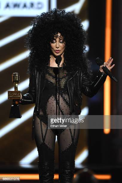 Honoree Cher accepts the Billboard Icon Award onstage during the 2017 Billboard Music Awards at TMobile Arena on May 21 2017 in Las Vegas Nevada