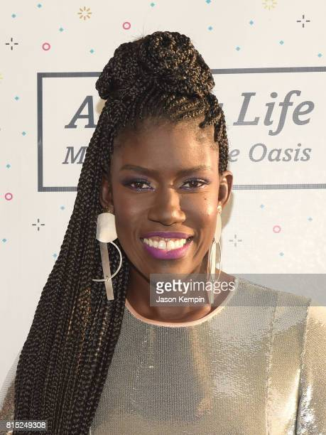 Honoree Chief Brand Officer Uber Bozoma Saint John attends Midnight At The Oasis Annual Art For Life Benefit hosted by Russell Simmons' Rush...