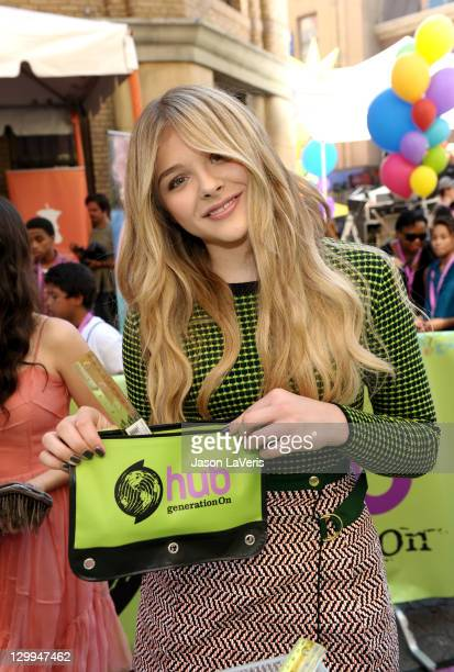 Honoree Chloe Moretz at the Hub booth during Variety's 5th annual Power Of Youth event presented by The Hub at Paramount Studios on October 22 2011...