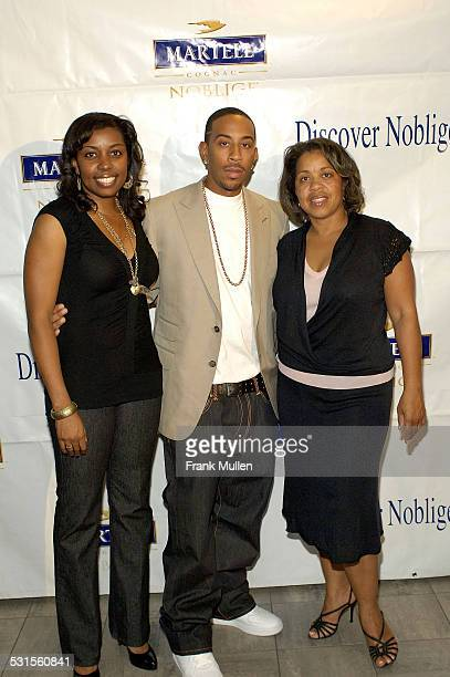Honoree Chris 'Ludacris' Bridges with Kim Hutchens and Roberta Shields of the Ludacris Foundation on the red carpet during the 'Martell Cognac...