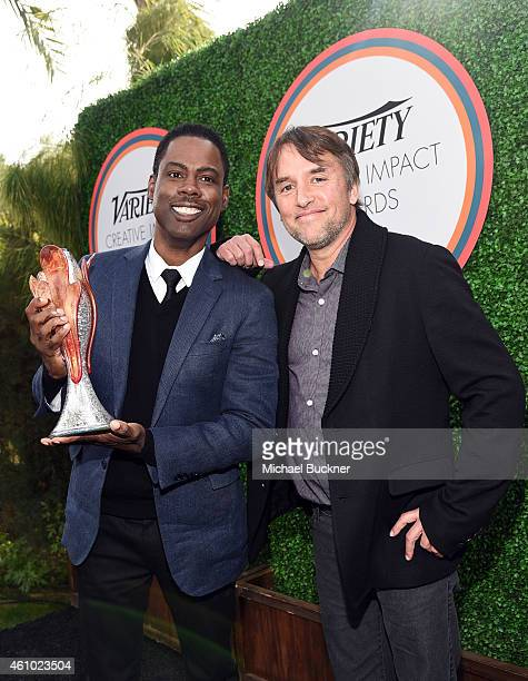 Honoree Chris Rock and director Richard Linklater attend Variety's Creative Impact Awards and 10 Directors To Watch brunch presented by Mercedes Benz...