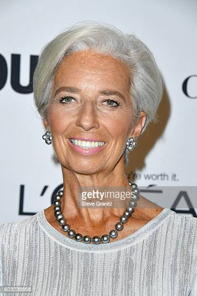 Honoree Christine Lagarde attends Glamour Women Of The Year 2016 at NeueHouse Hollywood on November 14 2016 in Los Angeles California