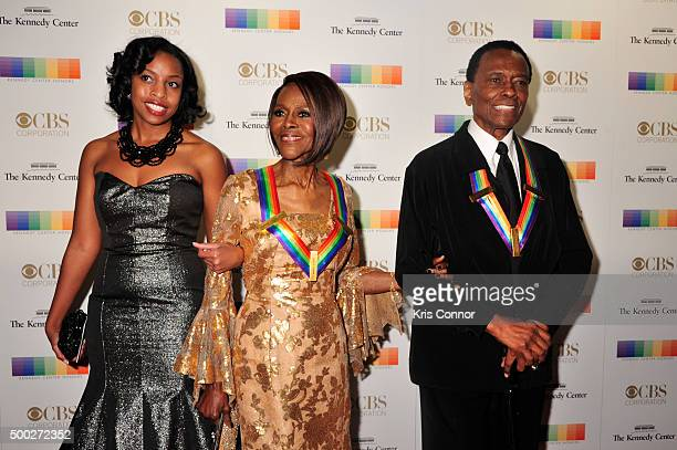 Honoree Cicely Tyson and past honoree Arthur Mitchell arrives at the 38th Annual Kennedy Center Honors Gala at the Kennedy Center for the Performing...