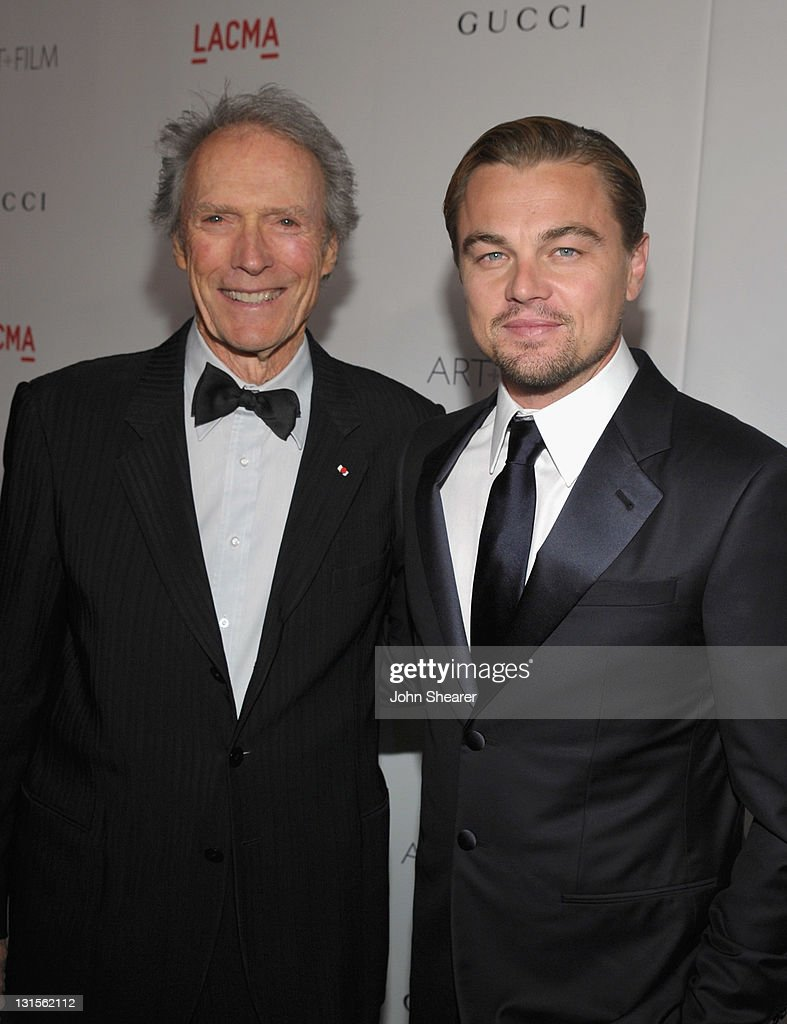 Honoree Clint Eastwood (L) and co-chair Leonardo DiCaprio attend LACMA Art + Film Gala Honoring Clint Eastwood and John Baldessari Presented By Gucci at Los Angeles County Museum of Art on November 5, 2011 in Los Angeles, California.